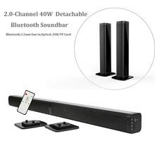 Samtronic Sound Bar Detachable Bluetooth Speaker Television Subwoofer Sound Two Channels Stereo Loudspeaker AUX LED Display