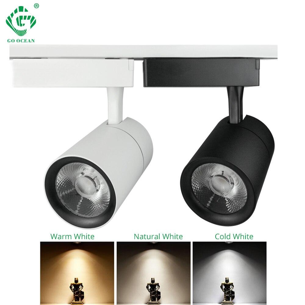 Track Light Rail Spot 30W Clothing Shoe Store Showrooms Mall Exhibition Ceiling LED Track Lamp Spotlights COB Shop Lighting