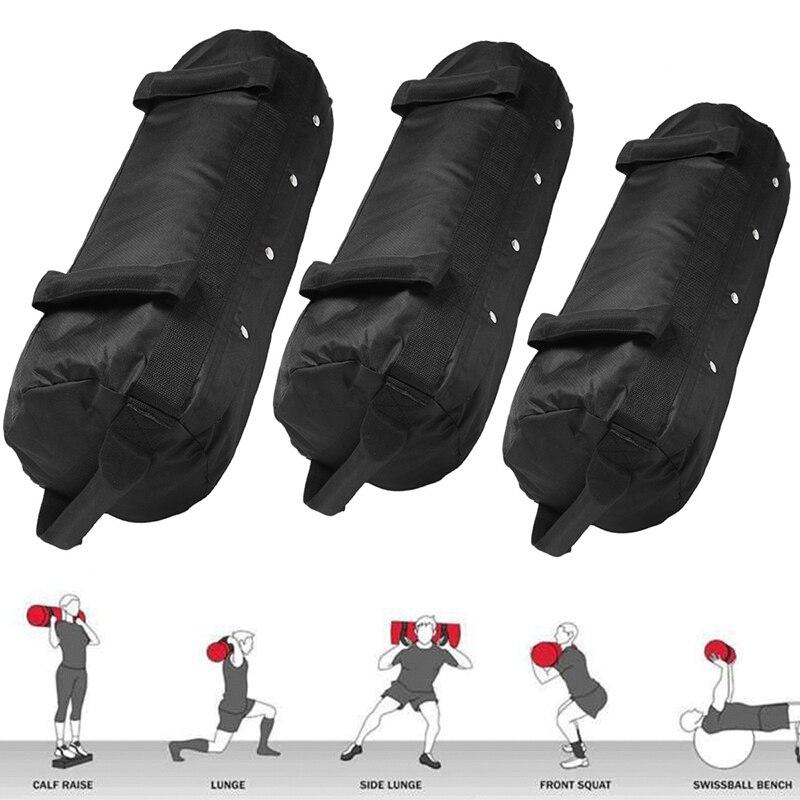 Multipurpose Boxing Punching Bag 40/50/60LB Nylon Weightlifting Sandbag Black Boxe Saco De Strength Training Heavy Duty Sand Bag