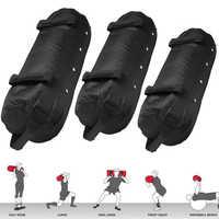 Saco de boxe multiuso 40/50/60lb náilon weightlifting saco de areia preto boxe saco de treinamento de força saco de areia resistente