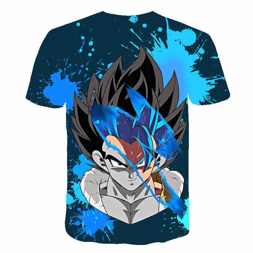 Новая крутая футболка Goku Dragon Ball Z 3d 2019 летние хипстерские футболки с коротким рукавом Аниме Драконий жемчуг зет casual K мужские Повседневные Дышащие футболки