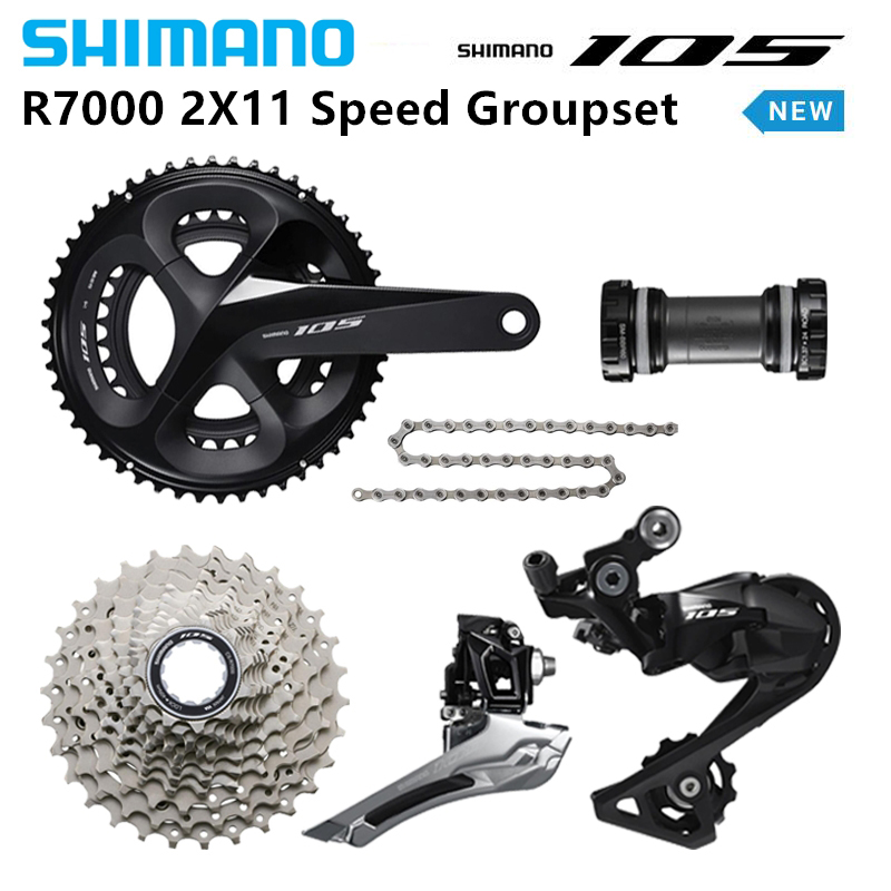 Shimano New 105 R7000 Road 2x11 Speed bike Groupset with Brake 50 34 53 39T 175mm