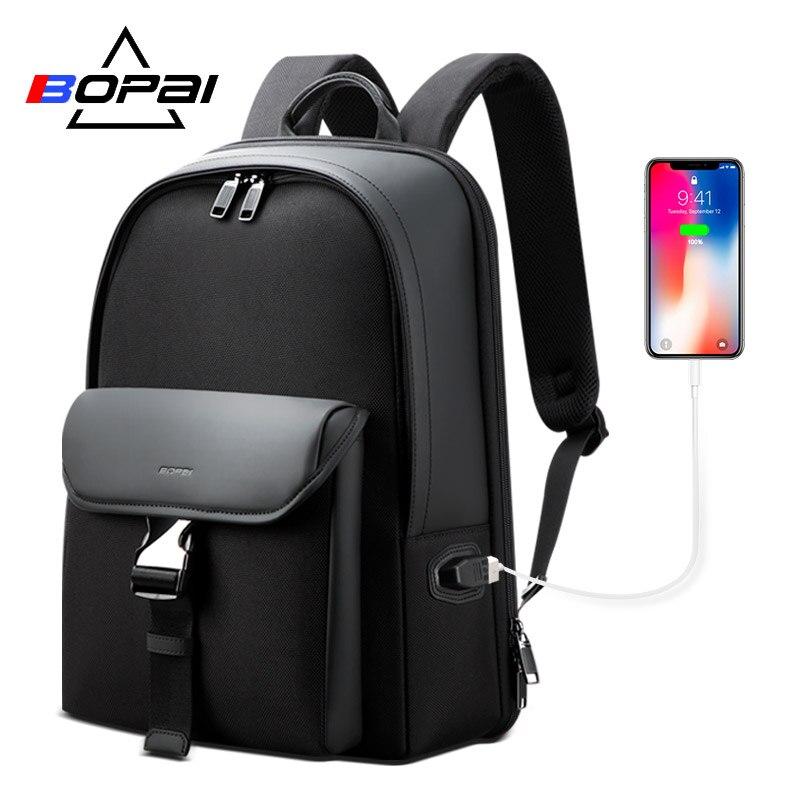 BOPAI Brand Mens Business Casual Shoulder Bag 15.6-inch Computer Bag Trend Fashion Simple Travel BackpackBOPAI Brand Mens Business Casual Shoulder Bag 15.6-inch Computer Bag Trend Fashion Simple Travel Backpack