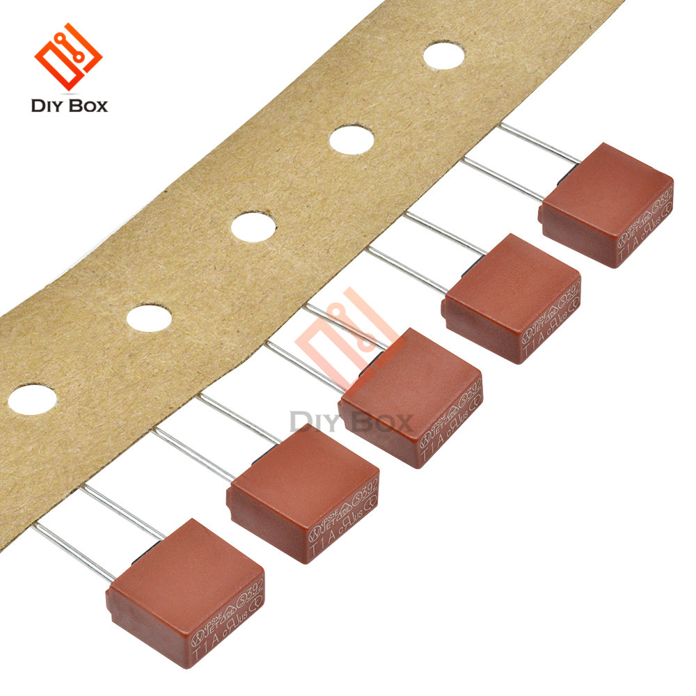 10pcs Square Plastic Fuse 1A 2A 3.15A 4A 5A 6.3A 392 Slow Blow Fuse for LCD TV Power Board Fuses Mini 8.5x25mm