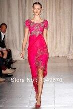 Nach Maß Neue Mode 2016 Jewel Neck Silber Embrodiery vestidos de fiesta formales Chiffon Abendkleider N052