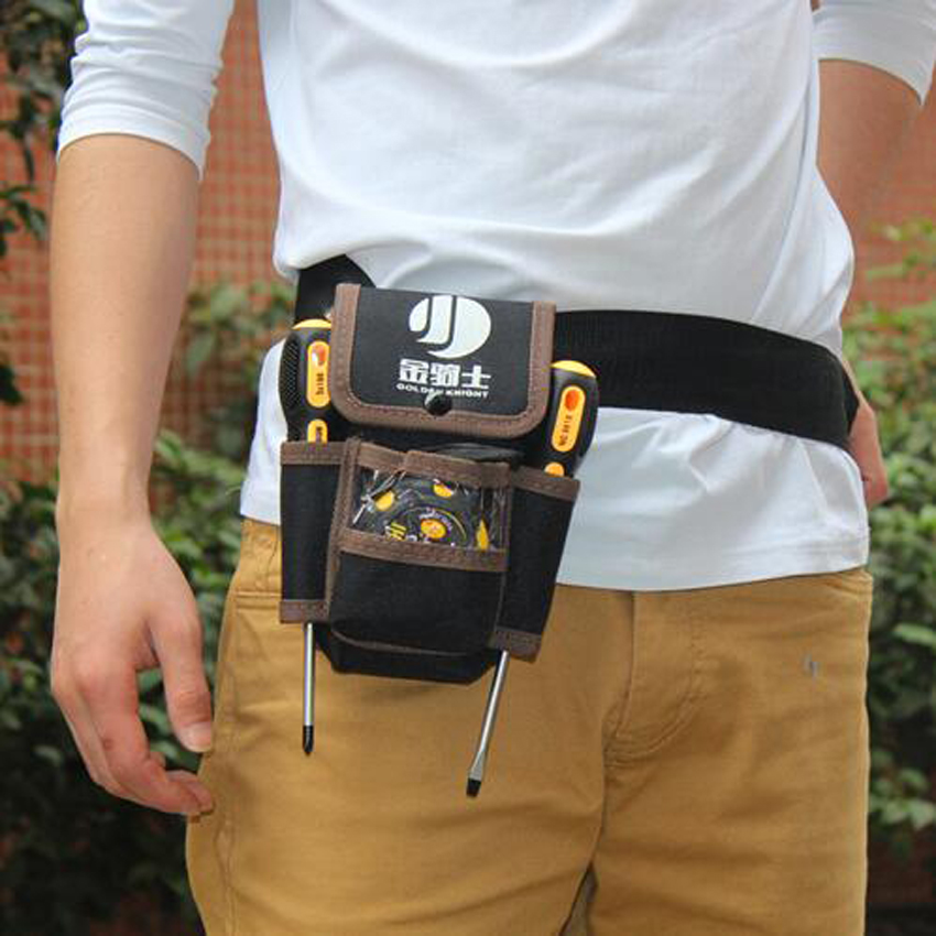 Multifunctional Electrician Tool Bag Waterproof Oxford Tools Kit Pockets & Waist Belt