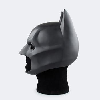 The Dark Knight Adult Batman Full Overhead Latex Black Cosplay Masks Helmets Party Halloween Prop Movie Batman Super Hero Mask the batman bruce wayne latex mask superhero movie cosplay costume halloween party masks