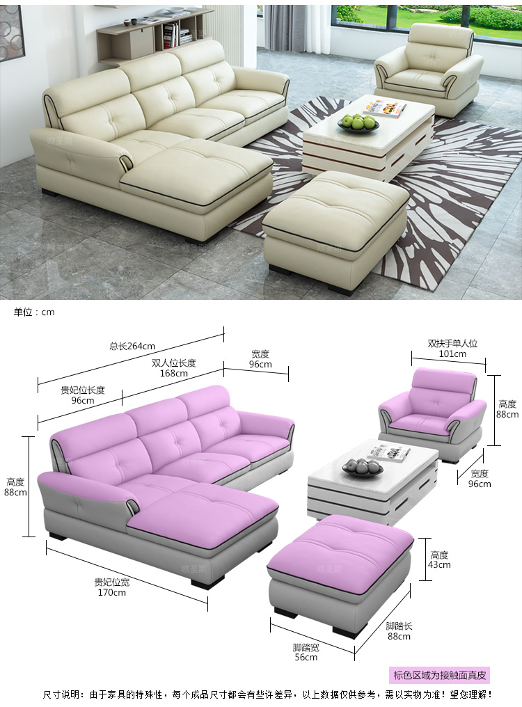 Modern Design Style Sectional