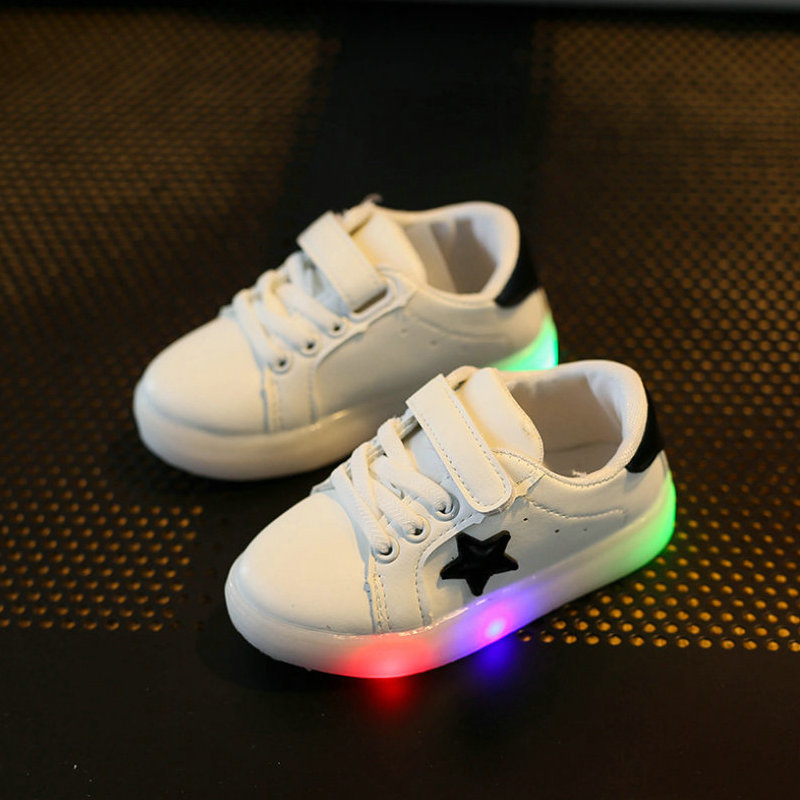 Kids led light shoes 2017 New Brand children luminous Sneakers flashing Girls casual shoes for Boys Shoe with lights Size 21-30