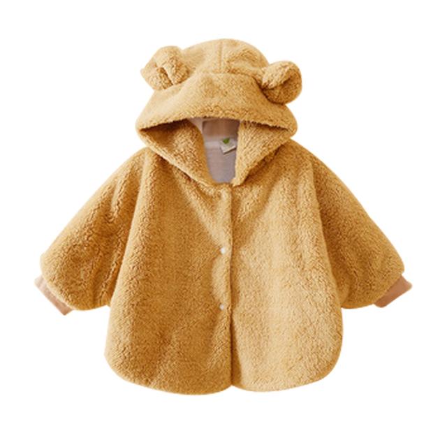 Batas de moda Caliente Chaquetas Abrigos Bebé Muchacha de Los Muchachos Outwear Soft Fleece Jumpers Ropa Poncho Cabo Manto de niños