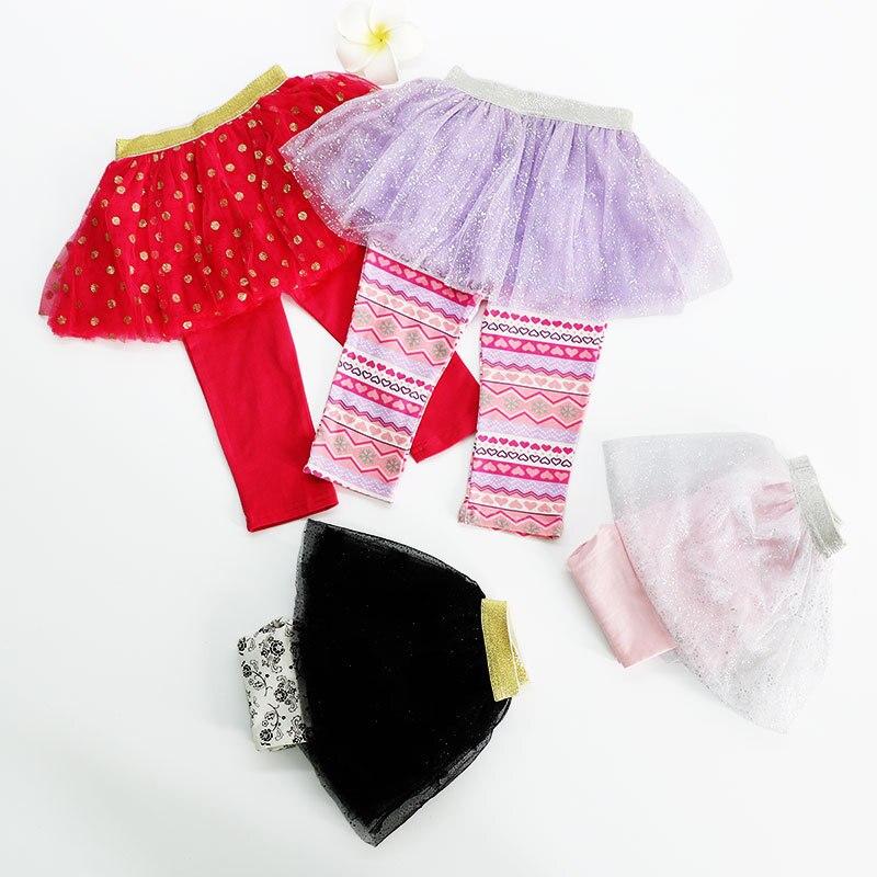 Jupe princesse pour petites filles | Jupe-culotte en coton pour enfants, vêtements Tutu en dentelle scintillante pour spirale, collection automne