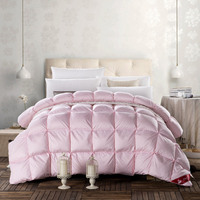 pink goose down duvet full queen size winter warm thicker comforter bedding set girls adult bedroom decor gift 3d soft skin