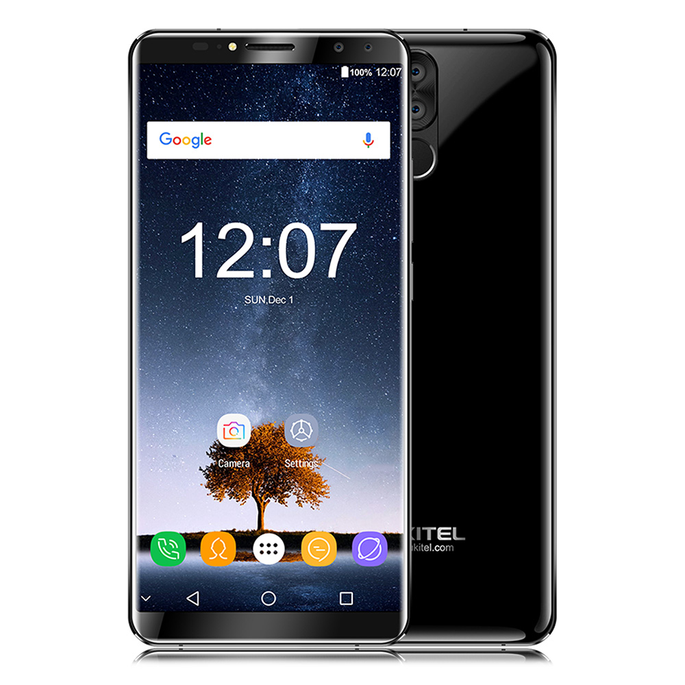 Oukitel K6 18:9 Visage ID smartphone 6.0 ''Écran FHD 6 GB + 64 GB MTK6763 Octa Core 6300 mAh 5 V/3A charge rapide 21MP 4 Cames Téléphone Portable