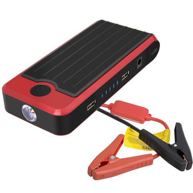 12000MAH Car Emergency Power Supply 2 USB Car Jump Starter Emergency Charger Booster Power with LED & Plastic Box LR15