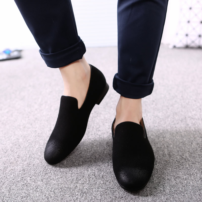 2019 Men Loafer Shoes Casual Oxford Shoes Pointed Toe Flat Breathable Formal Party Dress Shoes