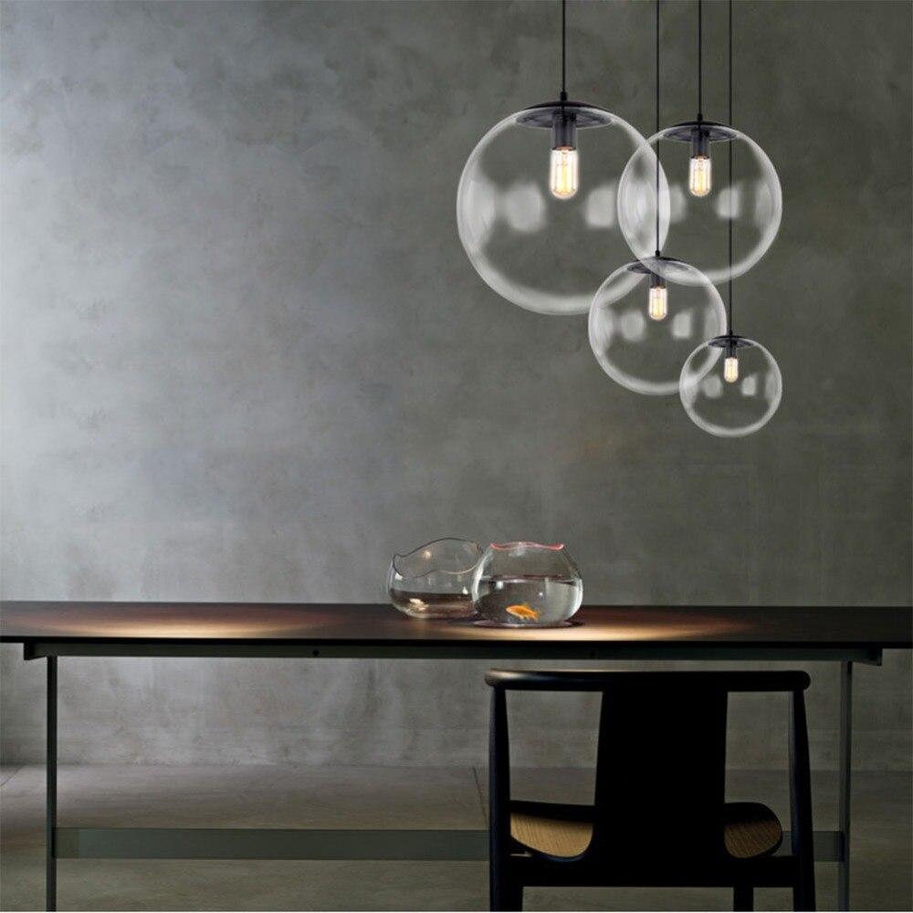 Image 2 - Bubble Pendant Light Glass Pendant Lighting Creative Decoration Fixtures for Bedroom Study Dinner Room Bar Modern Pendant lightPendant Lights   -