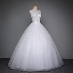 Image 4 - Fansmile 2020 Robe De Mariage Princess White Ball Gown Wedding Dresses Vestido De Noiva Plus Size Custom Wedding Gowns FSM 023F