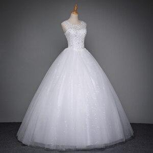 Image 4 - Fansmile 2020 Robe De Mariage prenses beyaz balo gelinlik Vestido De Noiva artı boyutu özel gelinlikler FSM 023F