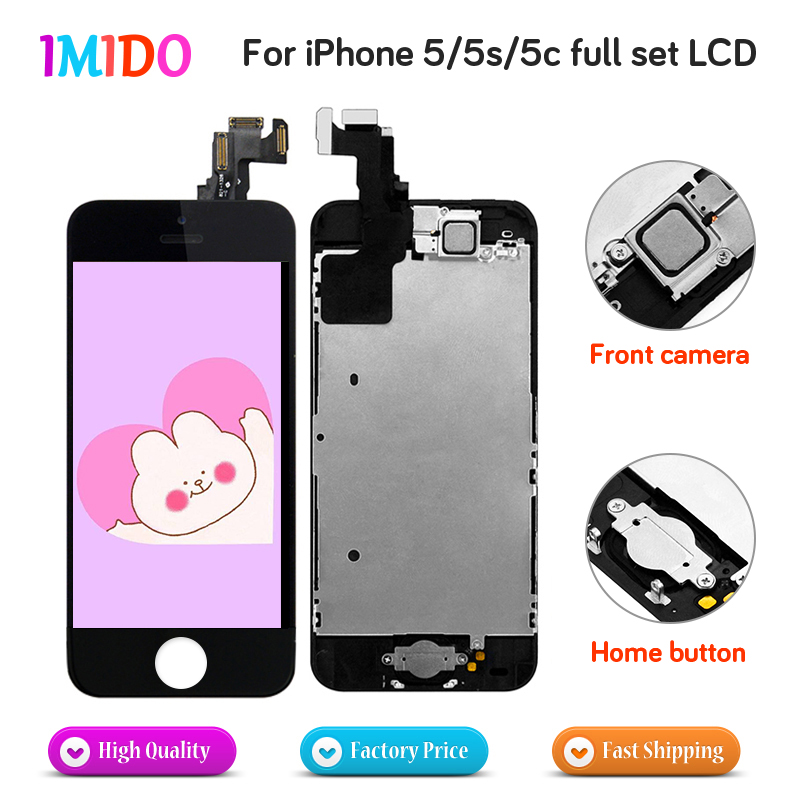 LCD Digitizer For iPhone 5 5C 5S OEM Display Complete Touch Screen Assembly Replacement+Home Button+Front Camera+Speaker AAA+++LCD Digitizer For iPhone 5 5C 5S OEM Display Complete Touch Screen Assembly Replacement+Home Button+Front Camera+Speaker AAA+++