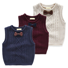New Childrens Vest for Boys Spring Autumn Knitted Baby Vests Fashion Waistcoat Clothes Kids Tops Jackets colete