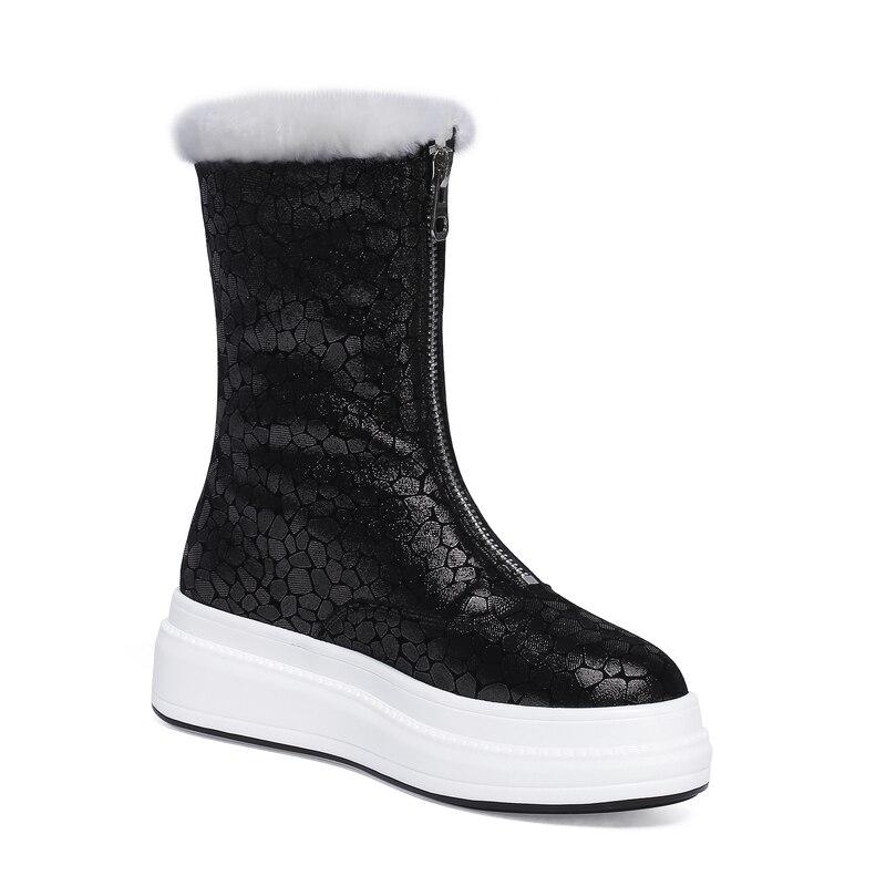 Высокая версия белой обуви Finard McQueen; женская кожаная обувь McQueen на толстой рифленой подошве, увеличивающая рост; Новинка 2019 года; Осенняя обу... - 2