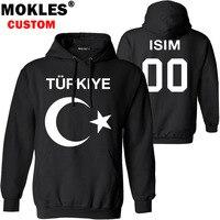 TURKEY republic pullover logo custom name number autumn winter tr turk jersey pure warm hat tur flag turkish nation blue clothes