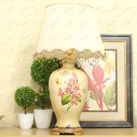 American Country Style Table Lamp Ethereal Luxurious Hand Painted Ceramic Lamp Living Room Bedroom Study Lamp
