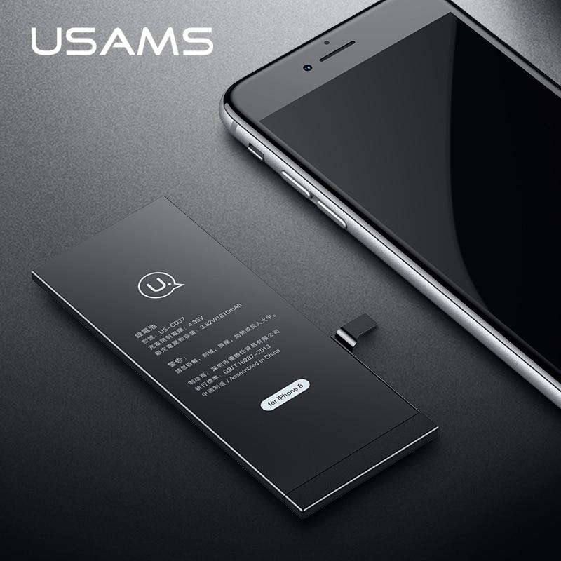 Für iPhone 6 Batterie USAMS Original Für iPhone6 iP6 Mobile telefon Lithium-Batterie Reale Kapazität 1810 mAh Bank Mit Werkzeuge Kit