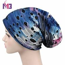 New Fashion Winter Autumn Women Men Soft Slouchy Stretchy Beanie Hat Cutout Skullies Broken Hole Baggy Cap