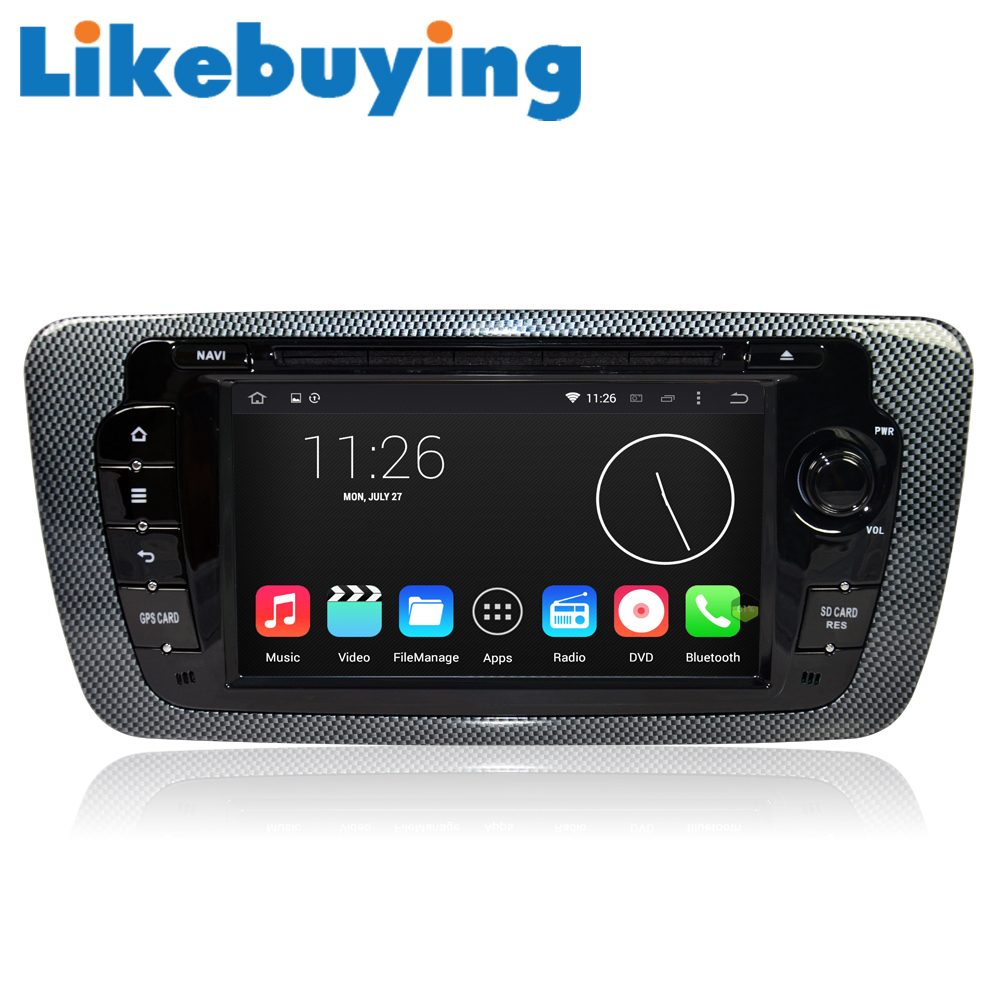 likebuying car 2 din quad core gps dvd radio navigator android 4 4 4 1024 600 16g for vw seat. Black Bedroom Furniture Sets. Home Design Ideas