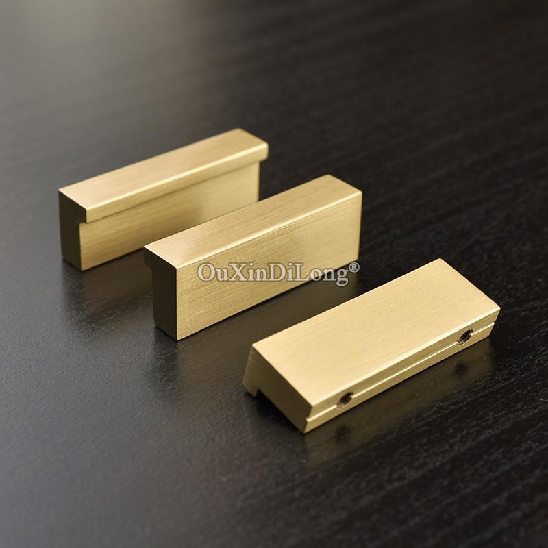 European Kitchen Cabinet Doors: Elegant Luxury 10PCS European Solid Brass Kitchen Cabinet