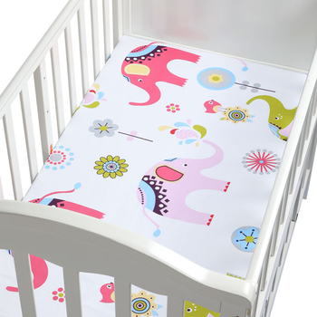 100% Cotton Crib Fitted Sheet Soft Breathable Baby Bed 1