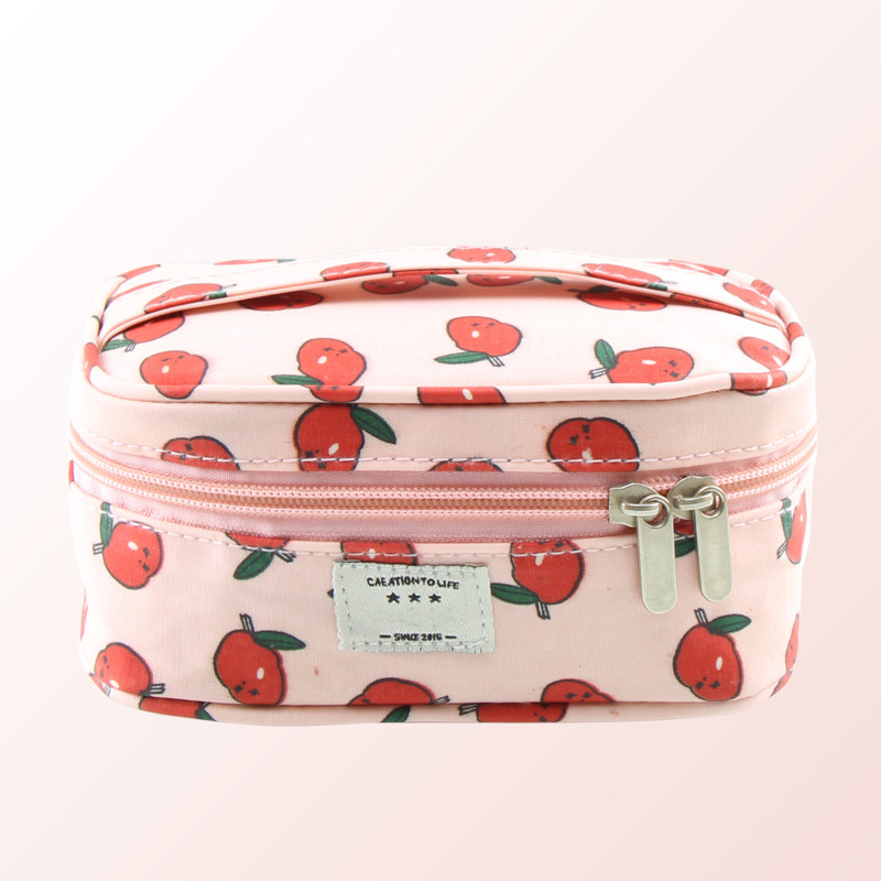 Women Large Capacity Cosmetic Bag Necessaire Cute canvas Make Up Bag Women Travel Bag Zipper Toiletry Kit Storage Organizers ...