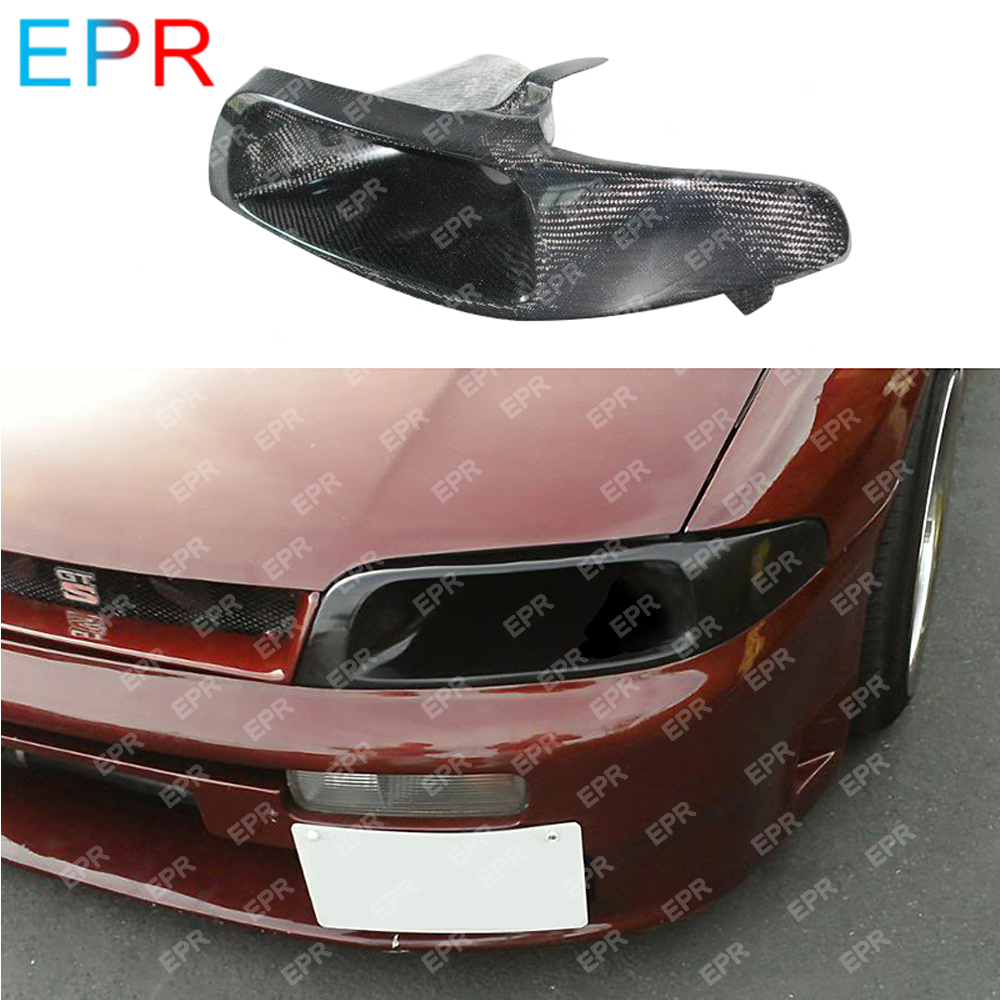 For Nissan Skyline R33 GTS Carbon Fiber Air Intake Body Kit Auto Tuning Part For R33 GTR Vented Headlight Replacement (left)