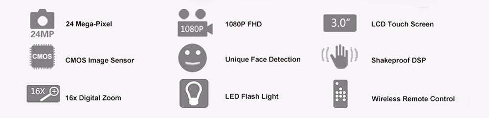 Ordro Camcorder HDV-Z18 Plus 1080P FHD Digital Video Camera Recording with 12X Teleconverter Remote Control HDMI Output 2