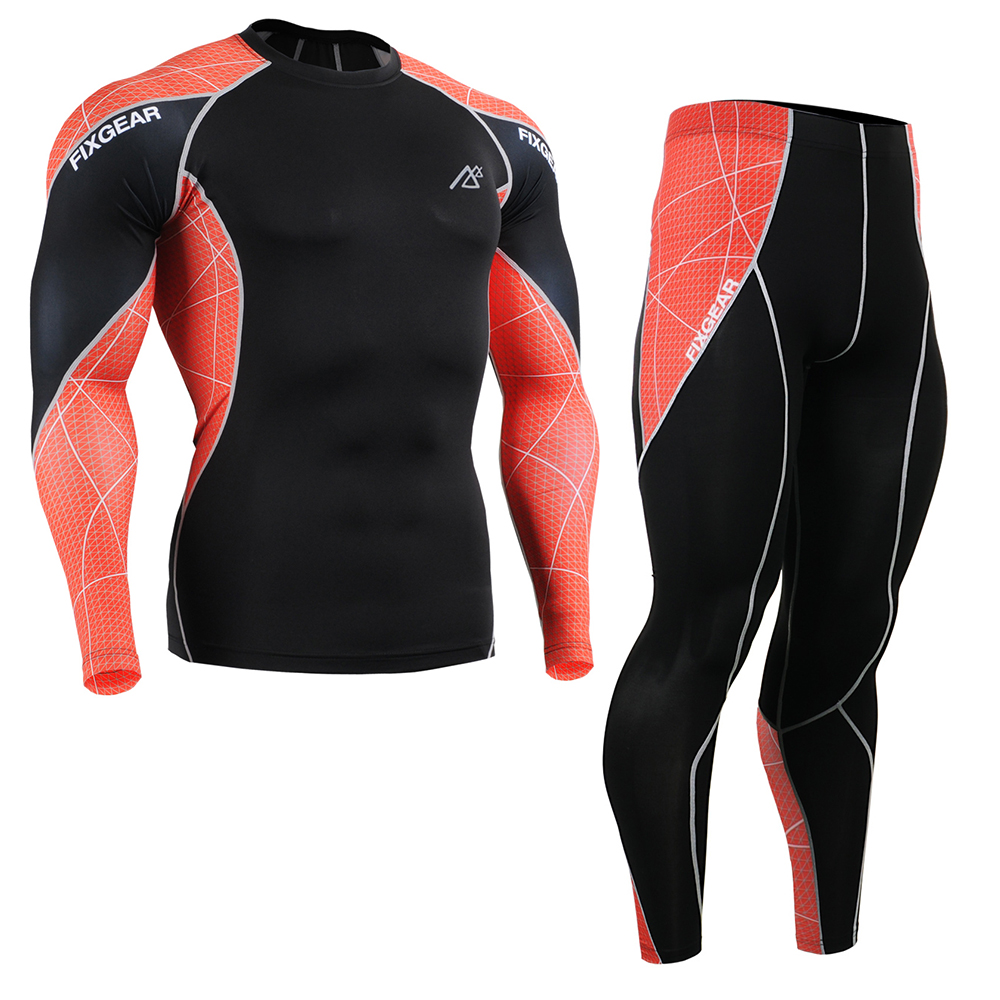 ФОТО Sport base layer compression Bodybuilding Running Outdoor tights Long Sleeve Tights +pants leggings summer style t shirt