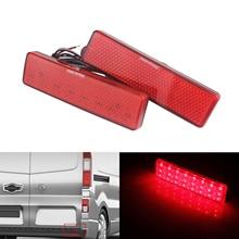ANGRONG для Renault Master Trafic красный светодиодный задний бампер отражатель стоп-сигнал хвост свет лампы