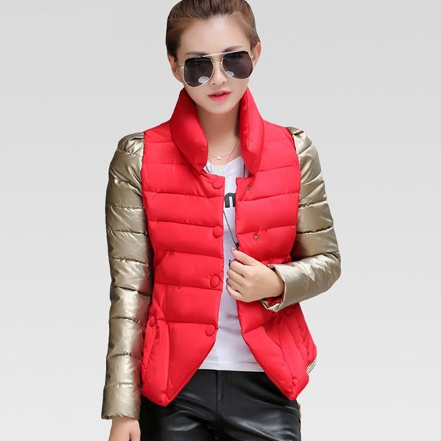 Новый Однобортный Вниз Хлопка Проложенный Парки Женские Зимние Куртки И Пальто Зимняя Куртка Женская Манто Femme ZA254