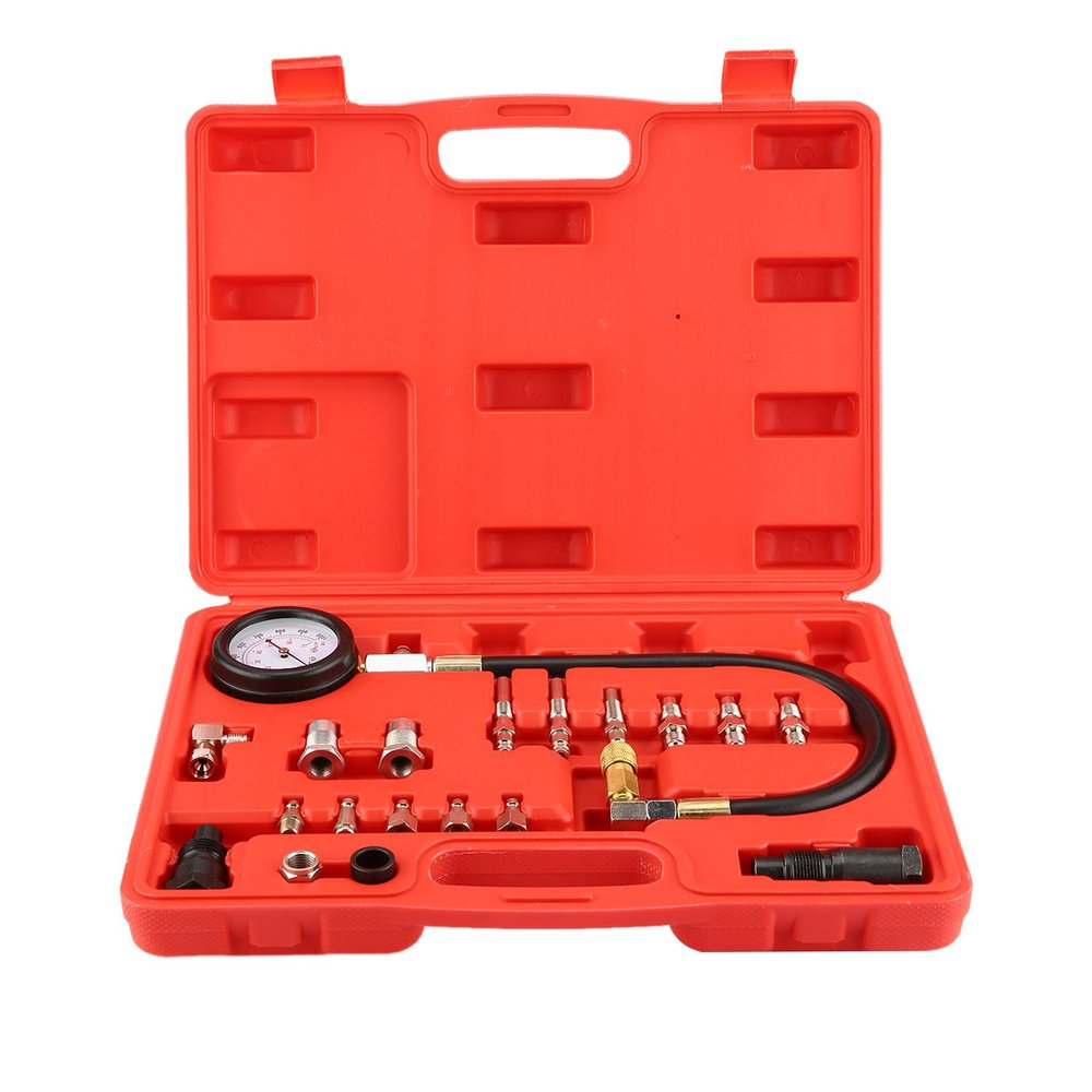 Supply New 19pcs Transmission Engine Oil Pressure Tester Tool Kit Oil Pressure Gauge Diagnostic Test Tool Petrol Garage Tool 0-1000psi Warm And Windproof Auto Replacement Parts
