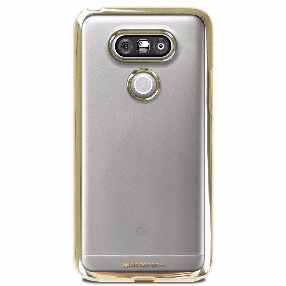 Original Mercury Goospery Ring2 Jelly Slim Fit Clear Tpu Bumper Case Pearl All Type Special  Yellow In Hand And Also Gives Firm Grip