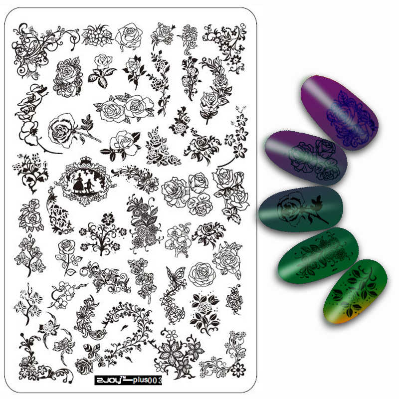 3pcs/setBig Size Decorations Nail Stamping Plates Konad Stamping Nail Art Manicure Template Stamp Nail Tools