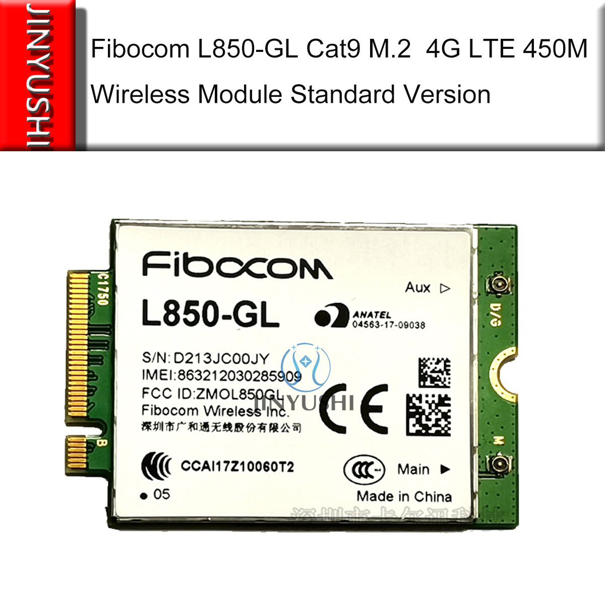 JINYUSHI For New Original Fibocom L850-GL  M.2 LTE-FDD/LTE-TDD/WCDMA 4G Cat9 450M  Wireless Module  Free Shipping