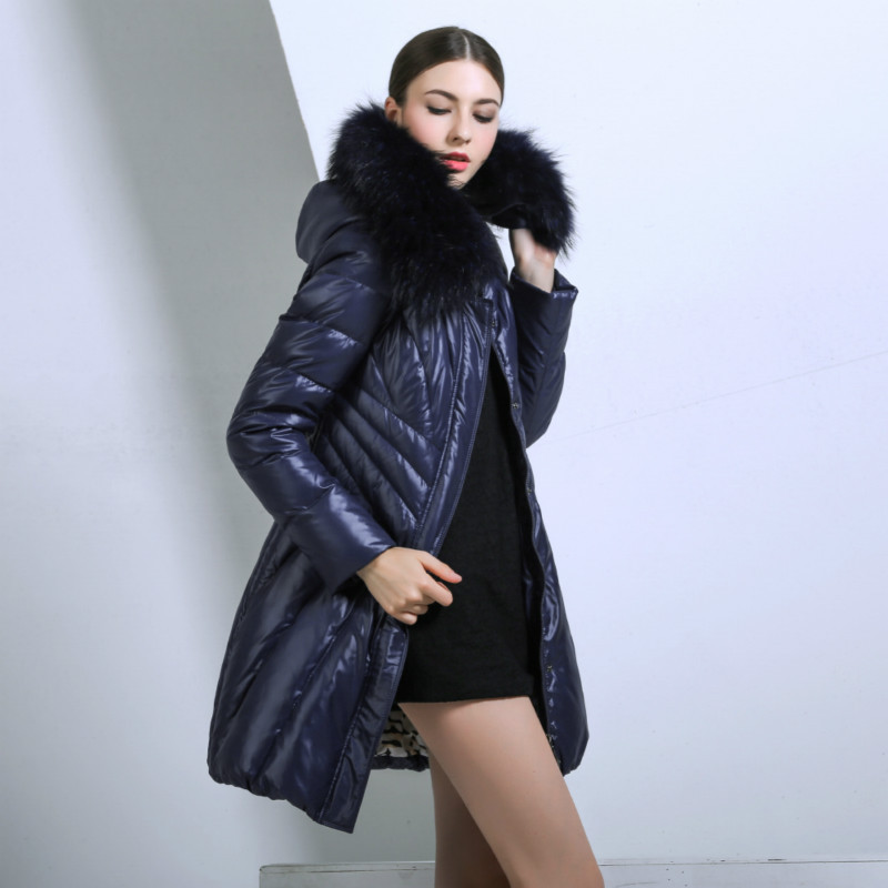 Winter Women Duck Down Jacket Long Warm Thick Snow Wear Outerwear  details-2