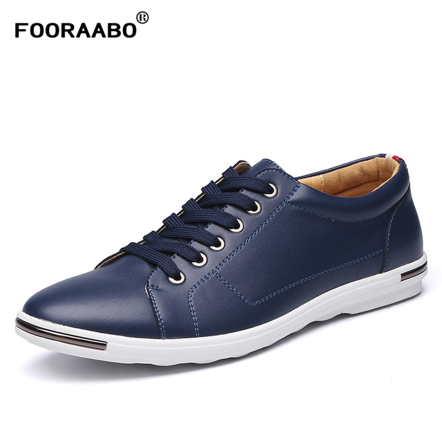 Luxury Brand Men Shoes Casual Leather Fashion Trendy Black Blue Brown Flat Shoes For Men Large Sizes Oxford Shoes Drop Shipping