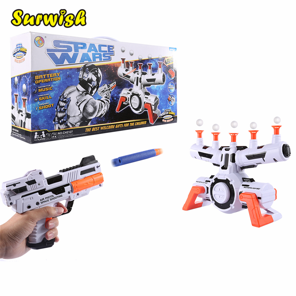 Shooting Toy Series Electric Suspended Ball Dart Target Soft Bullet Shooting Practice Set with Music Effect