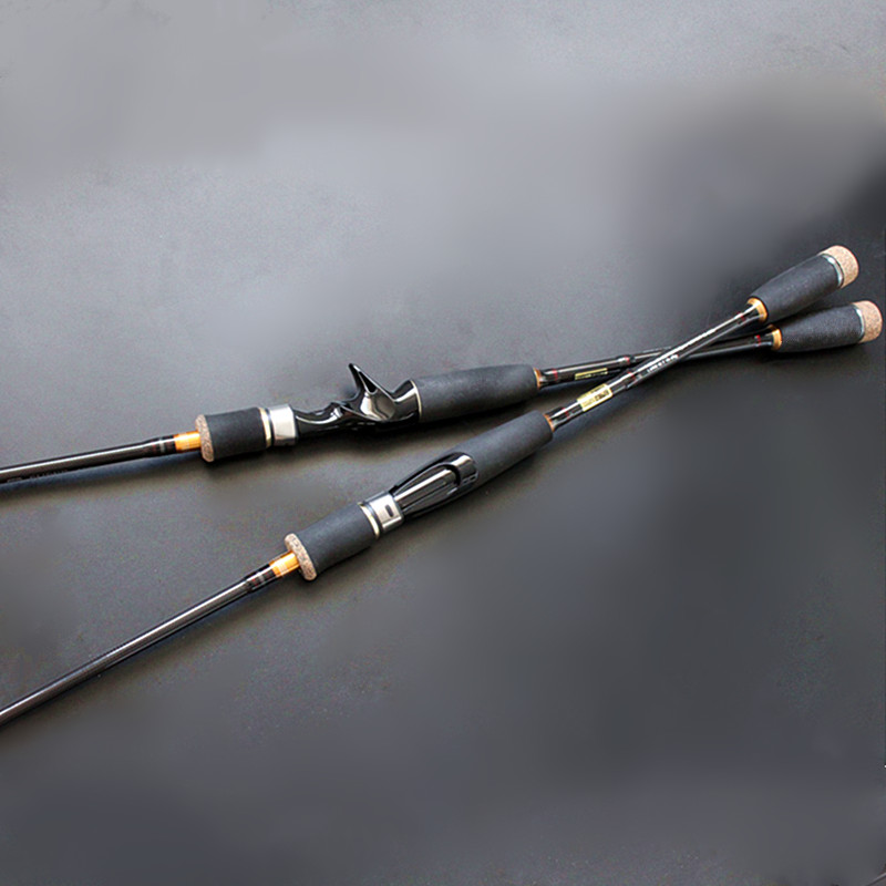lure fishing rod M high carbon bass rod 2tips 1.8m 2.7m spinning and baitcasting free shipping