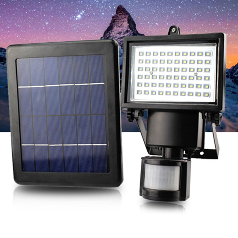 Solar Panel Floodlights Led Solar Flood Light Outdoor Security Pir Motion Sensor Smd2835 Leds Garden Path