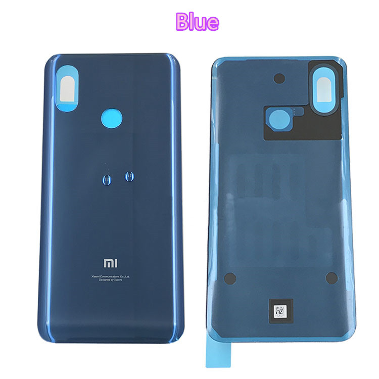 Original New For Xiaomi Mi8 Mi 8 Spare Parts Battery Back Cover Door 3D Glass Phone housing case battery cover free shipping