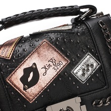 Women Chains Messenger Bags 2017 New Vintage Bag Ladies Famous Brand Crossbody Bag For Women Rivet Small Handbags Shoulder Bags