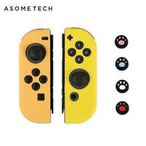 Image 2 - 6 в 1 для Nintendo Switch геймпад джойстик силиконовый чехол Для Nintendo Switch NS NX PS4 Joycon Кнопка Кепки Стик